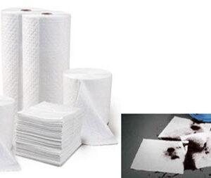 Almohadillas económicas y Rollos Absorbentes de Engrase (Economy Oil Absorbent Pads & Roll)