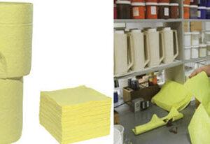 Almohadillas Absorbente y Rollos de sustancias químicas (Hazmat Absorbent Pads & Roll)