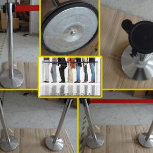 Ordenadores de filas en acero inoxidable para uso externo e interno