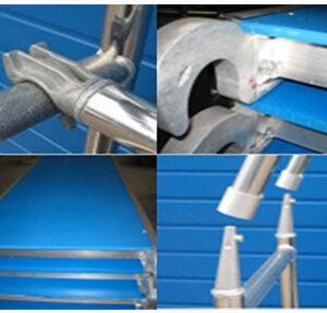 Andamios de aluminio para mantenimiento industrial reuniendo normas técnicas internacionales