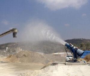 Efectivo sistema aéreo de supresión de polvo